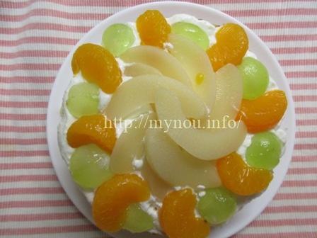 ロイテリヨーグルトのケーキ